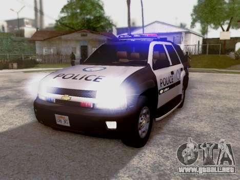 Chevrolet TrailBlazer Police para GTA San Andreas left