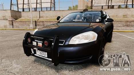 Chevrolet Impala 2010 LS Unmarked K9 Unit [ELS] para GTA 4