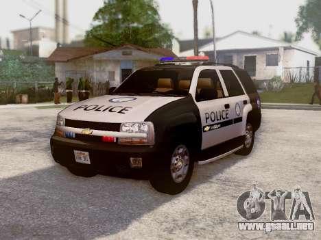 Chevrolet TrailBlazer Police para GTA San Andreas