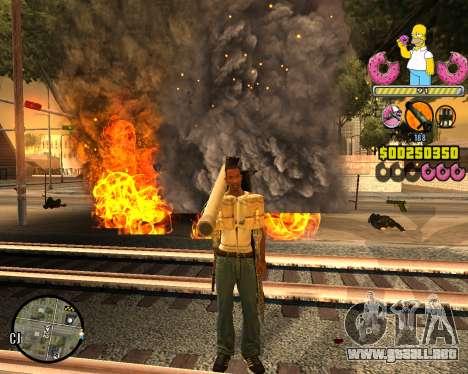 C-HUD Mr. Simpson para GTA San Andreas segunda pantalla