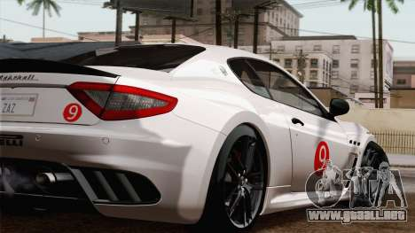 Maserati GranTurismo MC Stradale para GTA San Andreas vista hacia atrás