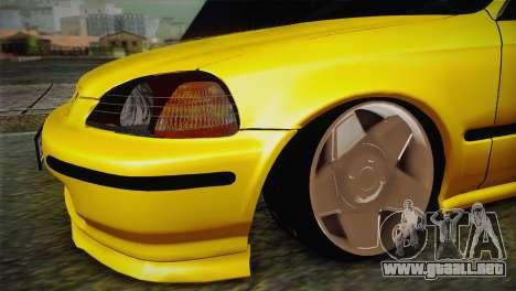 Honda Civic Edit Mehmet ALAN para la visión correcta GTA San Andreas