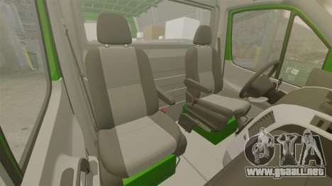 Mercedes-Benz Sprinter 2500 2011 Hungarian Post para GTA 4 vista lateral
