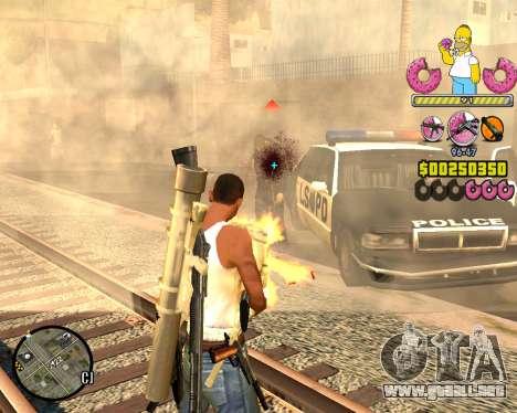 C-HUD Mr. Simpson para GTA San Andreas tercera pantalla