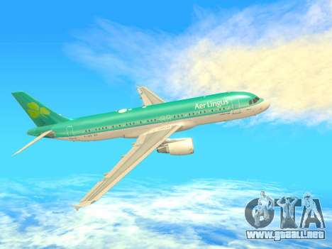 Airbus A320-200 Aer Lingus para la visión correcta GTA San Andreas