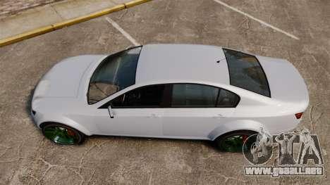 GTA V Cheval Fugitive new wheels para GTA 4 visión correcta