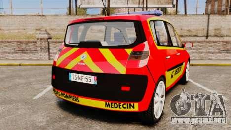 Renault Scenic Medicin v2.0 [ELS] para GTA 4 Vista posterior izquierda