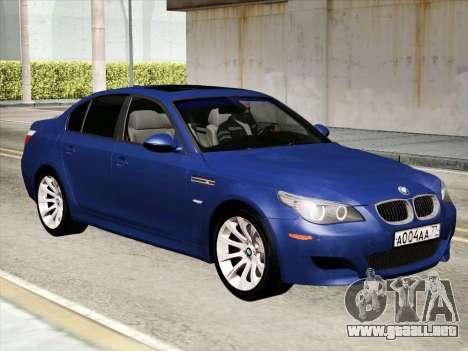 BMW M5 E60 2010 para GTA San Andreas left
