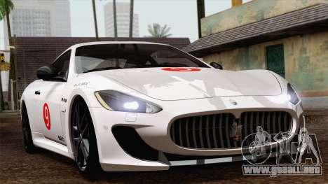 Maserati GranTurismo MC Stradale para la visión correcta GTA San Andreas