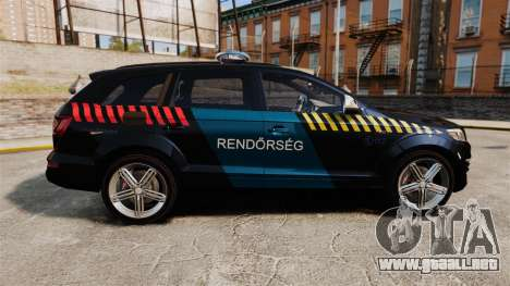 Audi Q7 Hungarian Police [ELS] para GTA 4 left