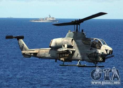 AH-1W Super Cobra para vista inferior GTA San Andreas