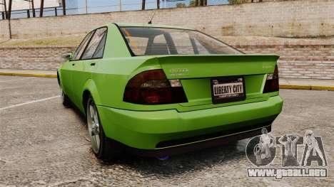 Sultan New Wheel para GTA 4 Vista posterior izquierda