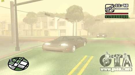 Weather Menu para GTA San Andreas sucesivamente de pantalla
