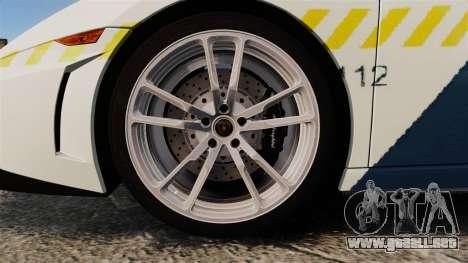 Lamborghini Gallardo Hungarian Police [ELS] para GTA 4 vista hacia atrás
