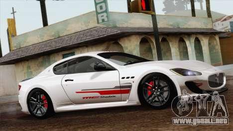 Maserati GranTurismo MC Stradale para GTA San Andreas vista posterior izquierda