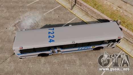 Brute Bus LCPD [ELS] para GTA 4 visión correcta