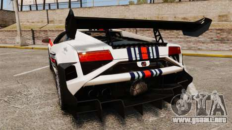 Lamborghini Gallardo LP570-4 Martini Raging para GTA 4 Vista posterior izquierda