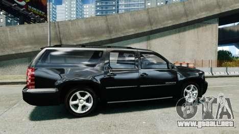 Chevrolet Suburban 2008 FBI [ELS] para GTA 4 left