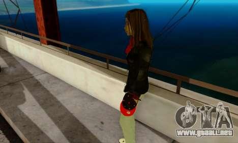 Kim Kameron para GTA San Andreas sucesivamente de pantalla