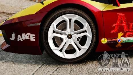 Lamborghini Aventador LP700-4 2012 [EPM] Jake para GTA 4 vista hacia atrás