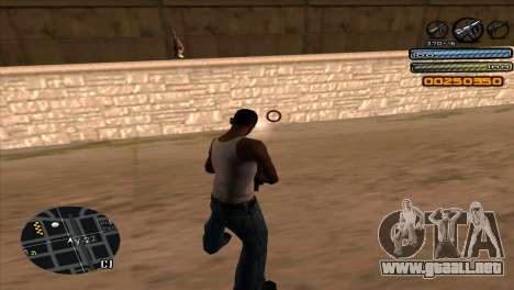 C-HUD Light para GTA San Andreas quinta pantalla