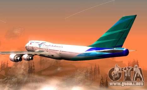 Boeing 747-400 Garuda Indonesia para la visión correcta GTA San Andreas