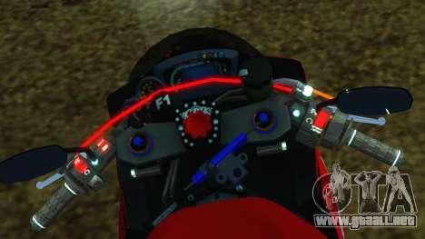 Kawasaki Ninja ZX-6R para visión interna GTA San Andreas