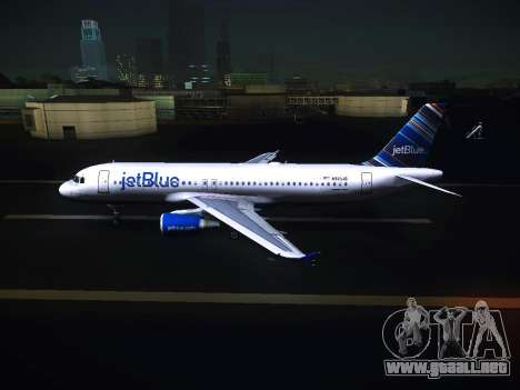 Airbus A320 JetBlue para GTA San Andreas left