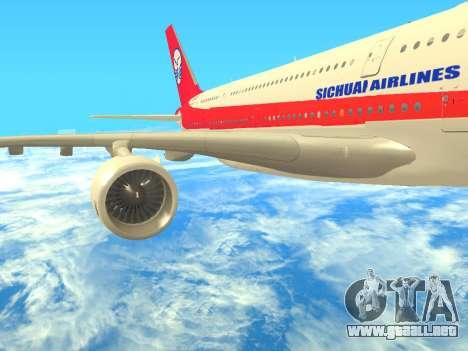 Airbus  A380-800 Sichuan Airlines para la visión correcta GTA San Andreas
