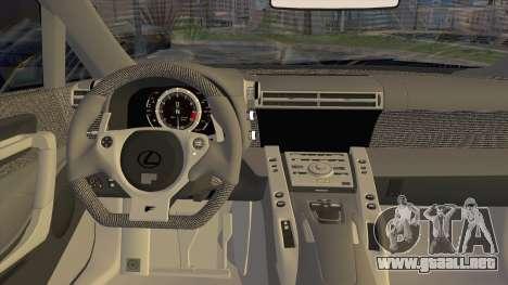 Lexus LFA Street Edition Djarum Black para GTA San Andreas vista hacia atrás