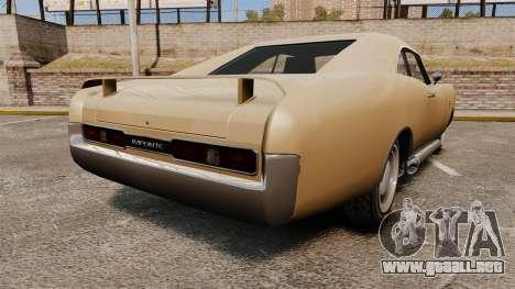 Imponte Dukes new wheels para GTA 4 Vista posterior izquierda