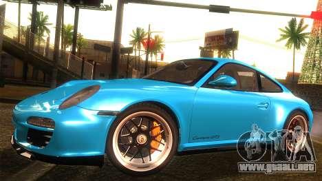 Porsche 911 Carrera GTS 2011 para GTA San Andreas vista hacia atrás