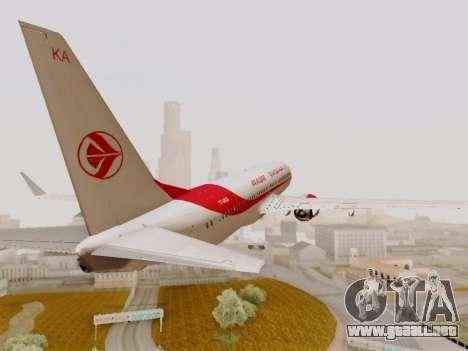 Boeing 737-800 Air Algerie para visión interna GTA San Andreas