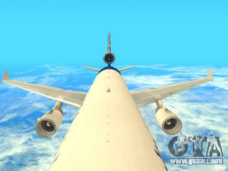 McDonnell Douglas MD-11 Delta Airlines para vista lateral GTA San Andreas