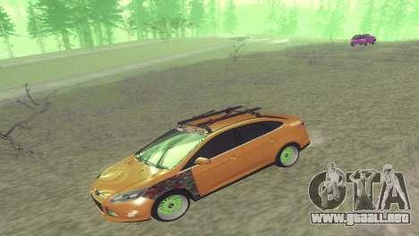 El Ford Focus Sedán Hellaflush para GTA San Andreas vista posterior izquierda