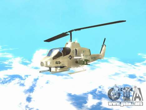 AH-1W Super Cobra para GTA San Andreas left