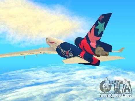 McDonnell Douglas MD-11 Delta Airlines para la visión correcta GTA San Andreas