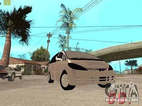 Toyota Estima KZ Edition 4wd para vista lateral GTA San Andreas
