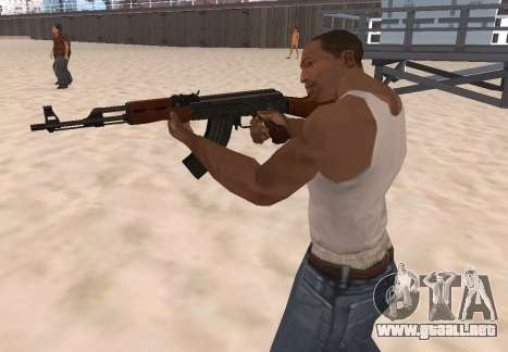 AK-47 para GTA San Andreas tercera pantalla