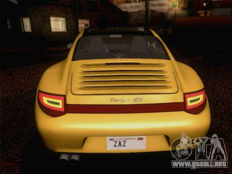 Porsche 911 Targa 4S para la vista superior GTA San Andreas