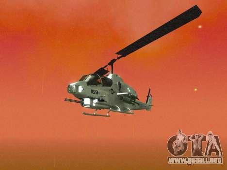 AH-1W Super Cobra para la vista superior GTA San Andreas