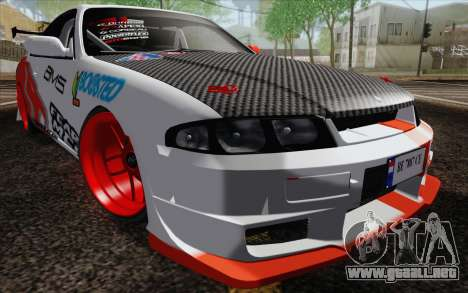 Nissan Skyline GT-R32 para vista lateral GTA San Andreas