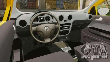 Volkswagen Gol G5 3 Puertas para GTA 4 vista hacia atrás