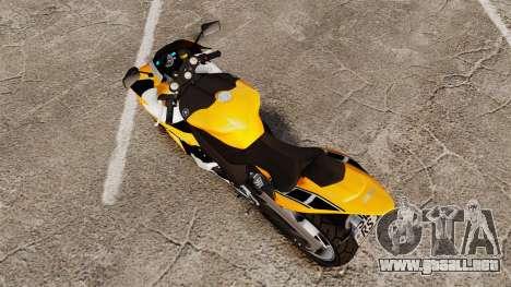 Yamaha R1 RN12 v.0.95 para GTA 4 Vista posterior izquierda