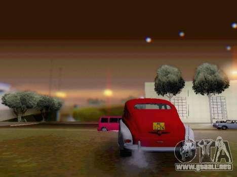 GAZ M-20 Pobeda para vista lateral GTA San Andreas
