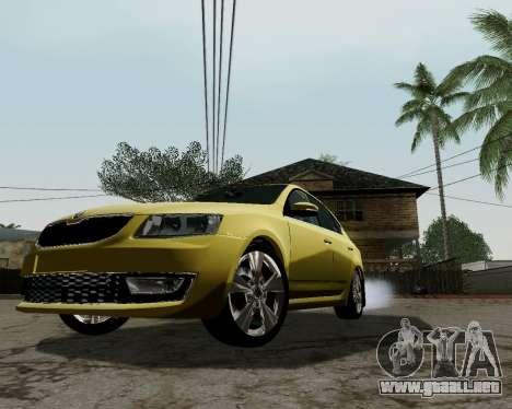 Skoda Octavia A7 para GTA San Andreas left