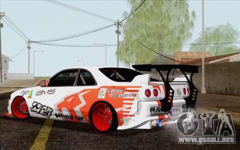 Nissan Skyline GT-R32 para GTA San Andreas left
