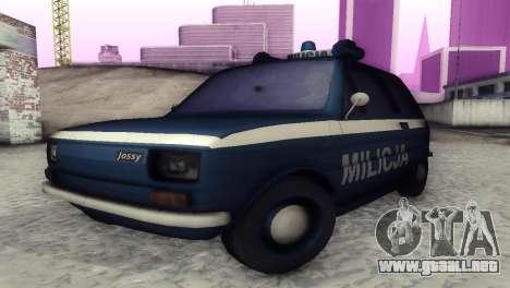 Fiat 126p milicja para GTA San Andreas left
