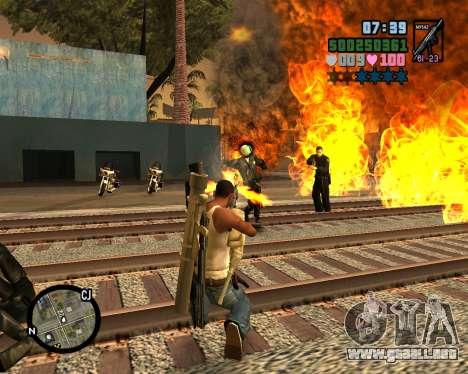 C-HUD Vice Sity para GTA San Andreas sucesivamente de pantalla