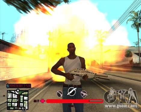 C-HUD sería Mario_Nostra para GTA San Andreas tercera pantalla